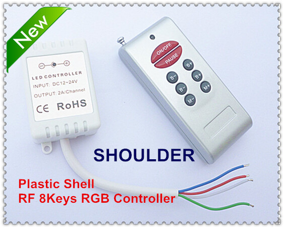 Led controller DC12-24V 8keys rf remote control for rgb light