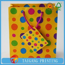 shopping recycle paper bag gift paper bag with velcro