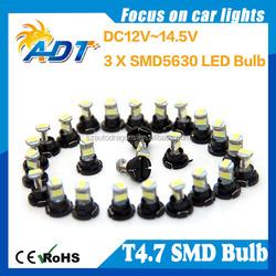 Car T4.7 5630 3-SMD LED A/C Module & Headlight Switch Upgrade Kit Bulbs Auto Parts