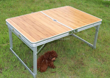 Bamboo Top Picnic Portable /Foldable Table