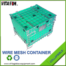 Heavy Duty Wire Mesh Container With PP Sheet Inside For PET Preform Storage
