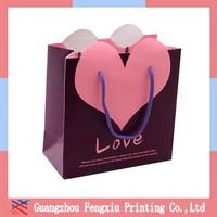 Brown Paper Bride and Groom Wedding Cake Gift Bag