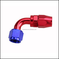 6061 Aluminum alloy 90 degree AN10 hose fitting applicating in many system