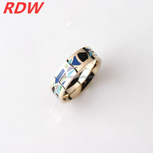 2015 RDW Manufacture Enamel Jewelry Ring,Rainbow Colorful Design And Rose Gold Plated