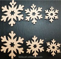 2016Teda Free Shipment laser cut wooden snowflakes shapes xmas Embellishments mdf Craft 40,50,60 mm