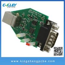 Printed Circuit Board USB COM485 Flash Device PCBA Manufacturer With BGA,QFN Footprint & SMT &AOI