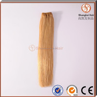 cheap 100% one donor remy brazilian honey blonde hair extension