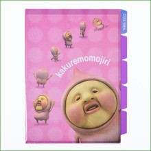 China supplier customized eco-friendly big face A4 Deoi pp plastic pocket file folder
