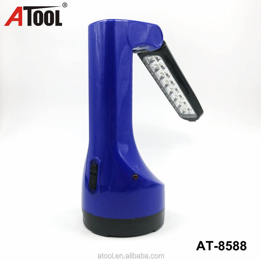 14smd LED torcia Ricaricabile con luce laterale di plastica faro