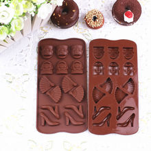 Hot Sale Bpa Free LFGB &FDA Silicone High Heel Shoe Chocolate Mold