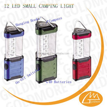 GOLDMORE2 Battery operation Portable 12 led Mini High Power Camping light,China factory small led tent lantern