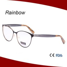 2015 New design spectacle glasses model paint eyewear brand names with unique temples