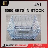 Folding Heavy Duty Steel Wire Storage Cages