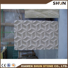 2015 new product indoor stone carving wall design for tv wall