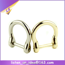 wholesale Customized handbag accessories silver d ring hardware