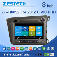car audio mp3 cd player adapter For Honda 2012 CIVIC RHD car gps with auto radio Bluetooth SD USB Radio wifi 3G