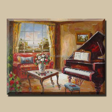 Musical Heavy Textured Painting of Piano Life
