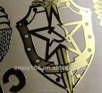 Decorative Anti Radiation Sticker Nickel Metal Sticker