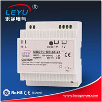 DR-60-12 CE RoHs approved AC to DC 60W 12V 5A Plastic Din rail power supply