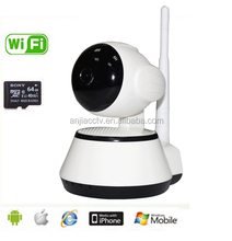 wireless ip camera,night vision, Pan/tilt,two way audio,motion detection,wifi,support smart phone,ipad,mult-user online look