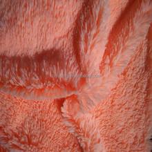 Solid Long Pile PV Plush fabric /fleece toy fabric from Jiangsu Changshu