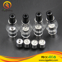 Cig Gallery wax cartomizer dry herb budder ball atomizer 510 dual coil cartomizer ceramic rod atomizer