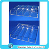 portable cheap mini acrylic divided trays handmade plexiglass condiments holder tray lucite compartment tray with dividers