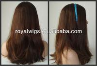 Luxury Unprocessed Silk Top Kosher European Virgin Hair Wig