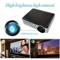 Home Theater Multimedia LCD Projector Compatible AV VGA USB HDMI TV DVD PS (Native 1280*800)