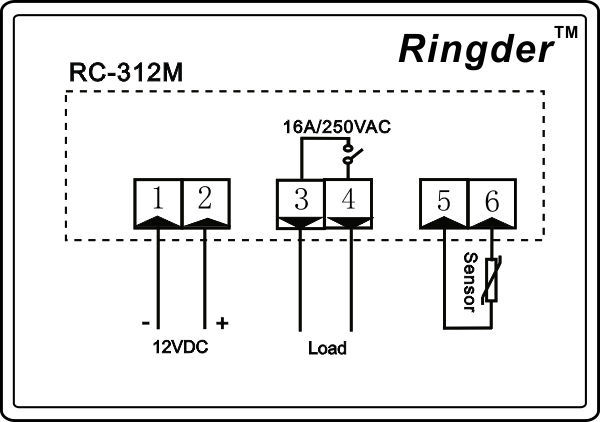 rc-312m temperature controller 12v dc