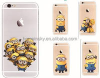 Catton Minions Despicable me Soft TPU Phone Case Cover For iPhone5/5s/6/6 plus