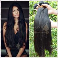 2015 Smooth hair supplier, top quality 7a grade straight hair band brazilian hair