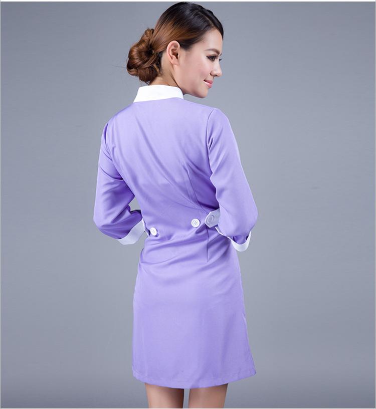 Ws735 half sleeve beauty salon uniform spa uniform for Spa uniform indonesia
