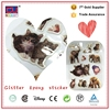 Custom kid clear epoxy resin dome sticker die cutting animal shape sticker
