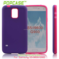 Protective case for samsung galaxy s5 sv i9600 i9500x g900 purple