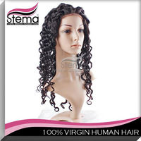 comfortable can be bleached factory price natural hair wig for men