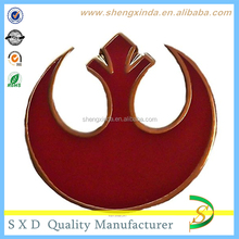 Factory Customize Star Wars RED Logo Enamel zinc alloy Badge
