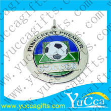 high relief 3d custom design rosary beijing gold football medal with lanyard