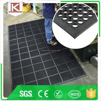 Outdoor Rubber floor mat/black anti fatigue kitchen mat Trade Assuracne