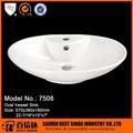 22.5 polegadas cerâmica oval pia portátil unidade
