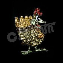 Hen Fashionable Thanksgiving Day cheap rhinestone heat transfers