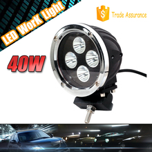 automotive led work light 40w for 4x4 vehicle, 40w led driving light offroad