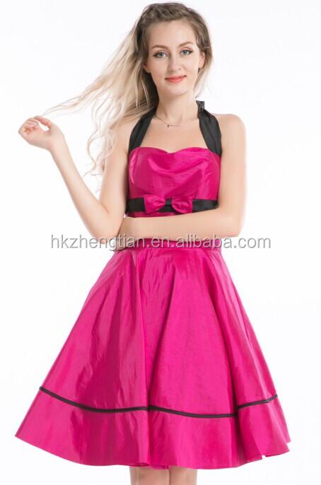 vintage mujer estilo rockabilly 50s vestido de fiesta fiesta retro ...