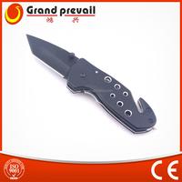 Aluminium Black Anodized Handle Folding Survive Knife