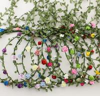 High quality Wholesale flower headband flower crown headband flower garland headband H9180