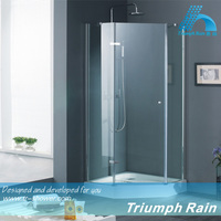tempered glass diamond single hinged door shower room