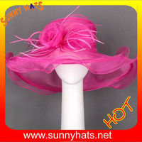 Fuchsia Organza church hats for sale