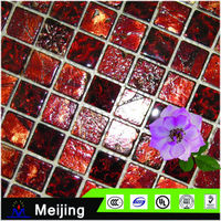 New products crystal glass mosaic for bathroom accessories