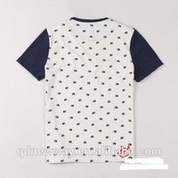 Fashion SS short sleeve camera print melange color fabric men's tshirt