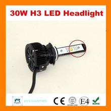 2015 high power 30w 24v H3 use japanese car led light bulb guangzhou auto parts led headlight